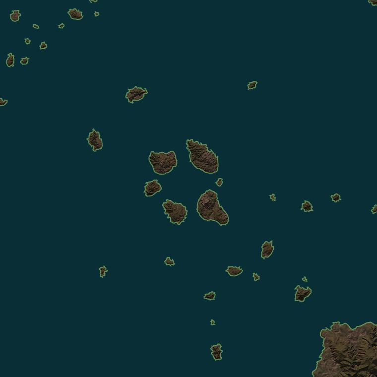 <b><font style='font-size:25px'>Кольцо</font></b><br> Кольцо гористых островов образует «тихую гавань» в центре карты.
