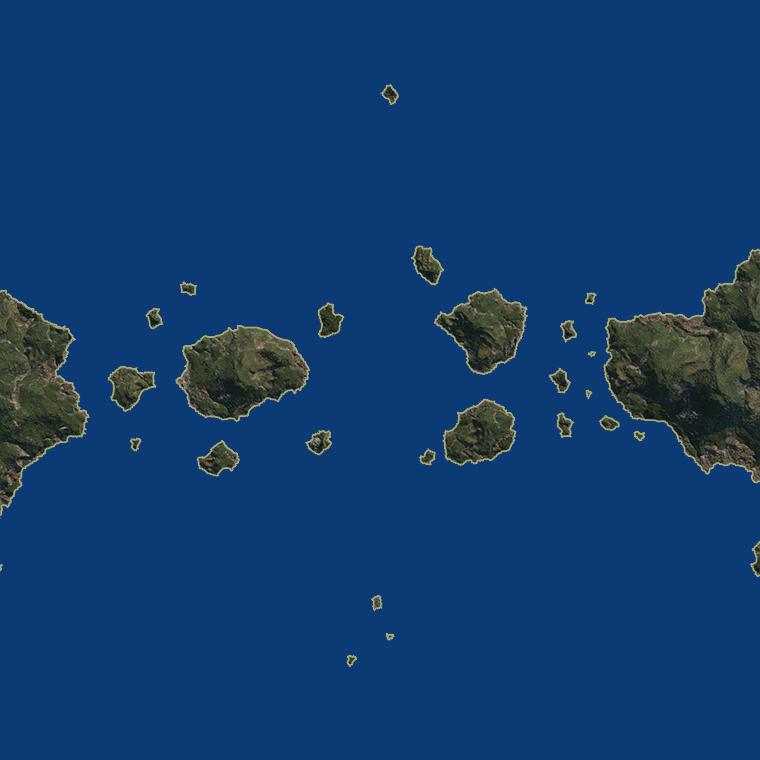 <b><font style='font-size:25px'>Пролив</font></b><br> Пролив между двумя континентами, содержащий как крупные так и мелкие острова.