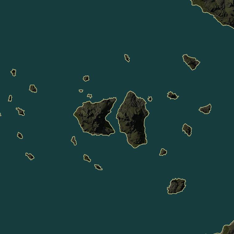 <b><font style='font-size:25px'>Два брата</font></b><br> Два больших острова, как два брата, делящих между собой карту.