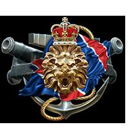<b><font style='font-size:25px'>Royal Navy I</font></b><br> Одержите победу в50боях, при этом войдите втоп-3 своей команды поколичеству заработанного опыта.<br>Выполняется в Случайных боях на кораблях Великобритании VIII-X уровней.